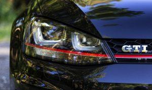 VW GTI Golf Closeup Of Grill