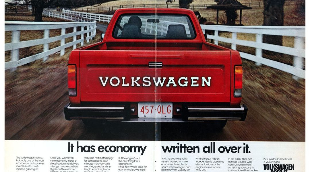 Don't Forget About The Volkswagen Rabbit Pickup!