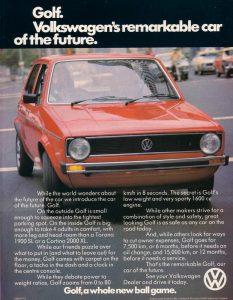 Rabbit VW MK1 Magazine Ad Circa 1975